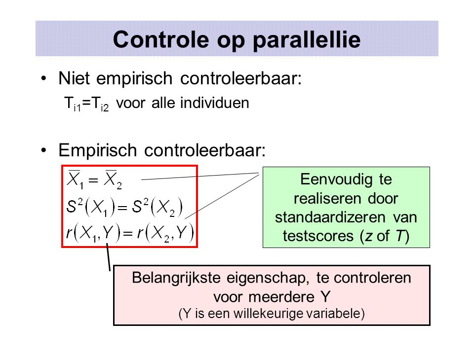 Controle op parallellie