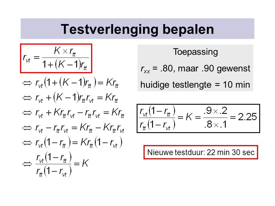 Testverlenging bepalen