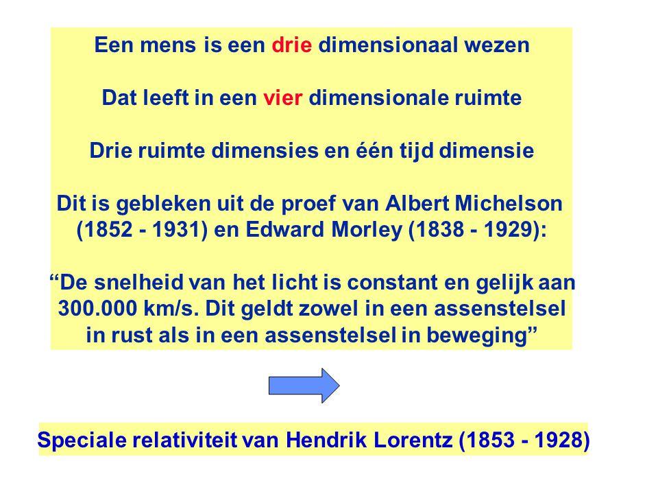 Een mens is een drie dimensionaal wezen