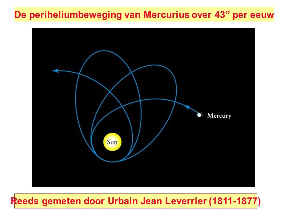 De periheliumbeweging van Mercurius over 43 per eeuw