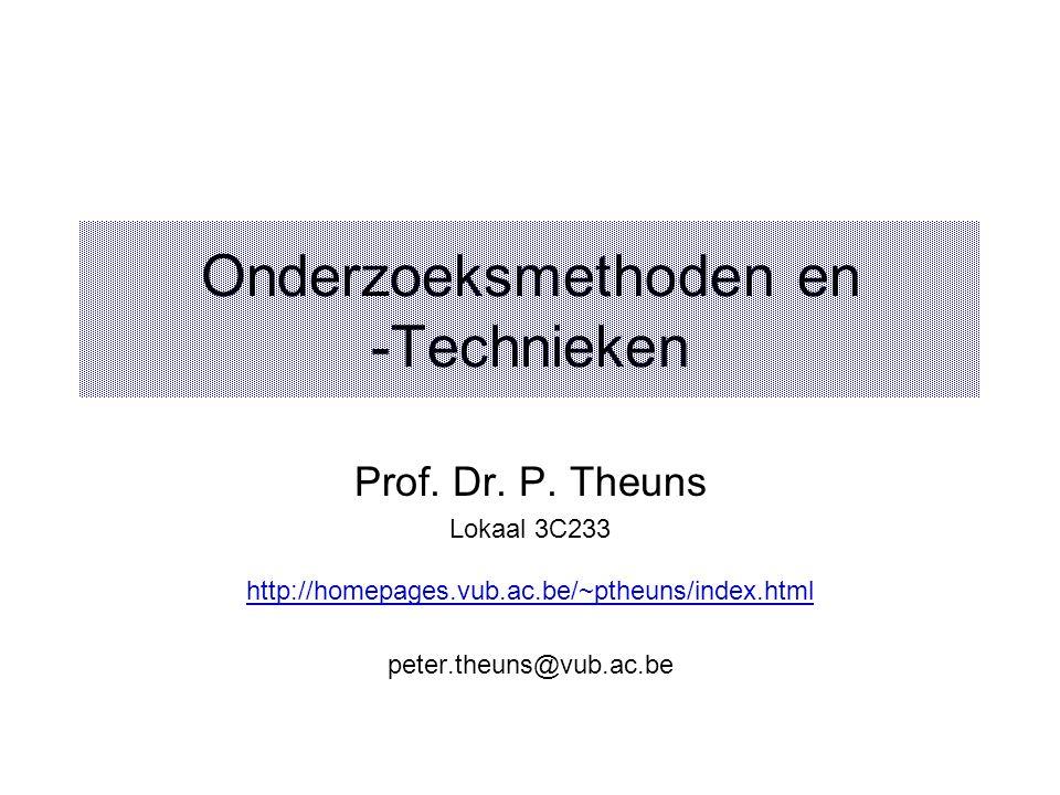 Onderzoeksmethoden en -Technieken
