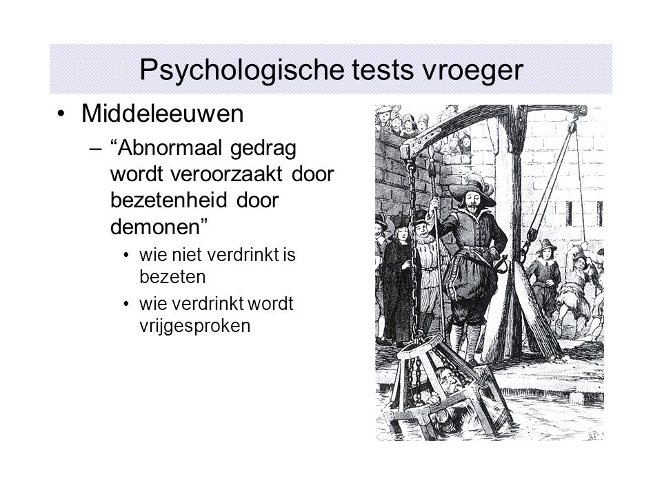 Psychologische tests vroeger