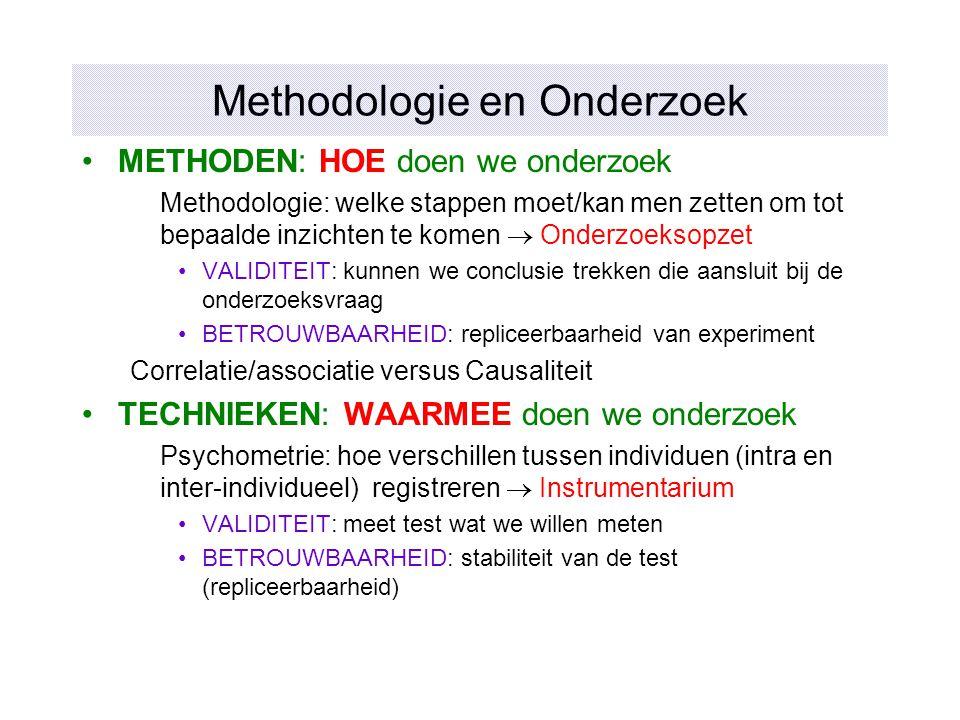 Methodologie en Onderzoek