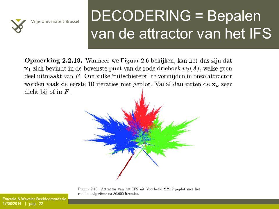 DECODERING = Bepalen van de attractor van het IFS