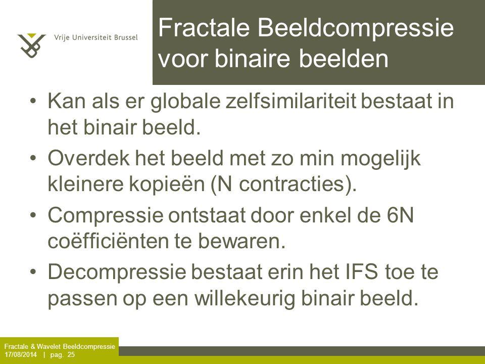 Fractale Beeldcompressie voor binaire beelden