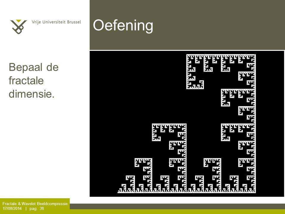 Oefening Bepaal de fractale dimensie.