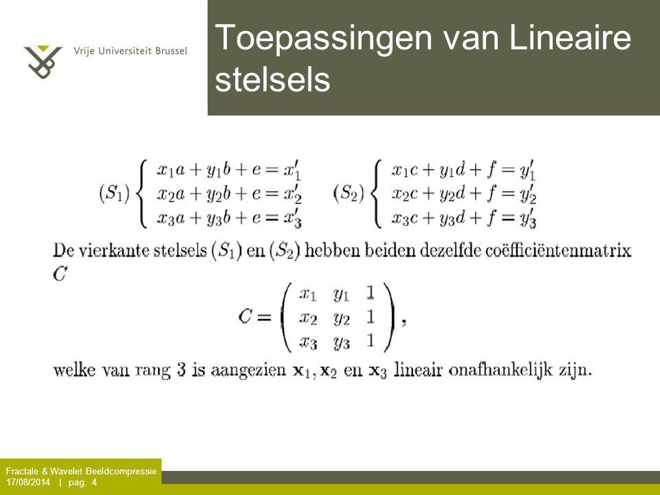Toepassingen van Lineaire stelsels