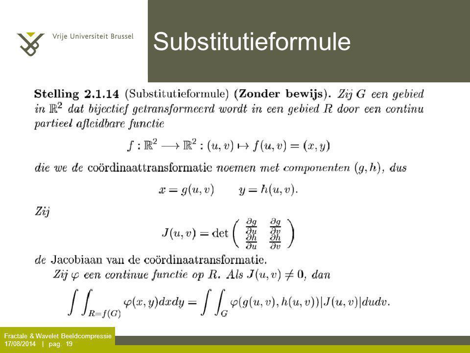 Substitutieformule Fractale & Wavelet Beeldcompressie
