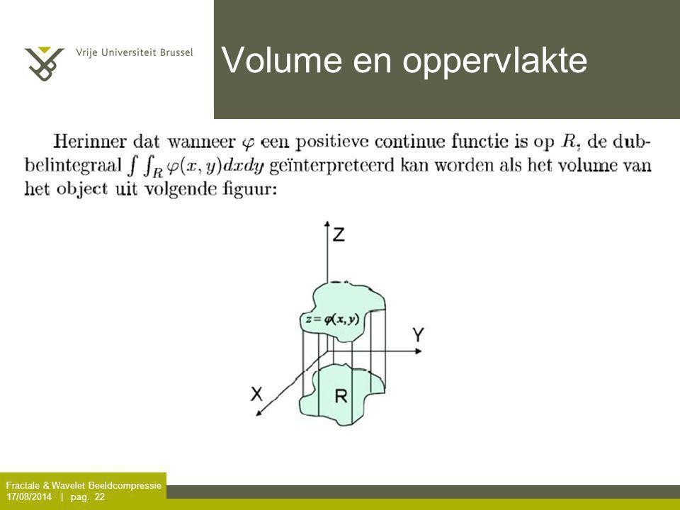Volume en oppervlakte Fractale & Wavelet Beeldcompressie