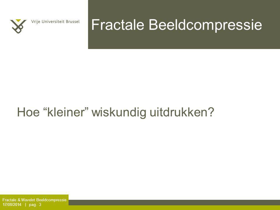 Fractale Beeldcompressie