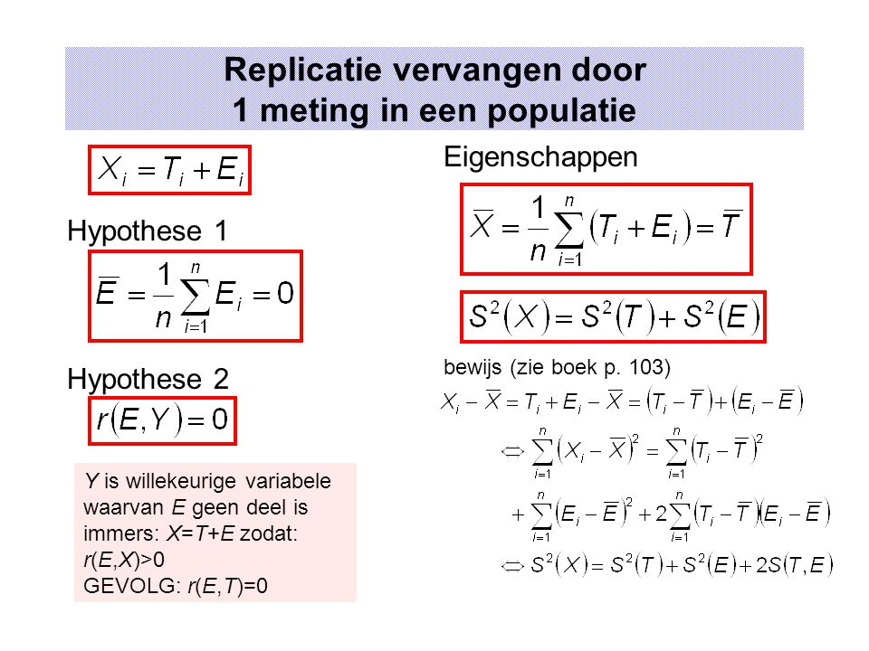 Replicatie vervangen door 1 meting in een populatie