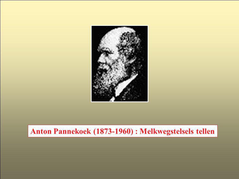 Anton Pannekoek (1873-1960) : Melkwegstelsels tellen