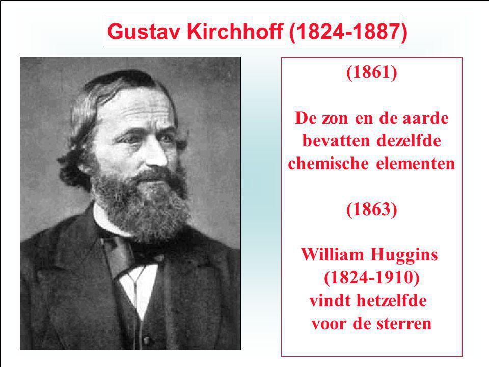 Gustav Kirchhoff (1824-1887) (1861) De zon en de aarde