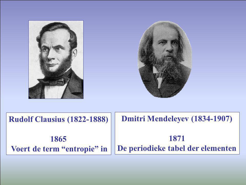 Voert de term entropie in De periodieke tabel der elementen