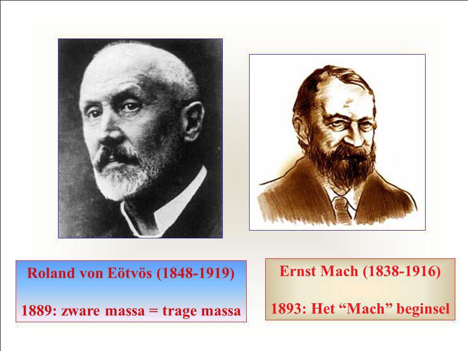 1889: zware massa = trage massa