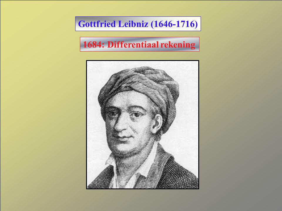 Gottfried Leibniz (1646-1716) 1684: Differentiaal rekening