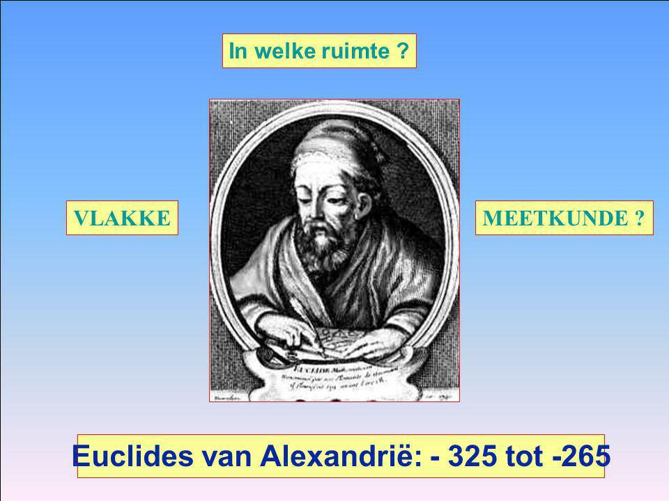 Euclides van Alexandrië: - 325 tot -265