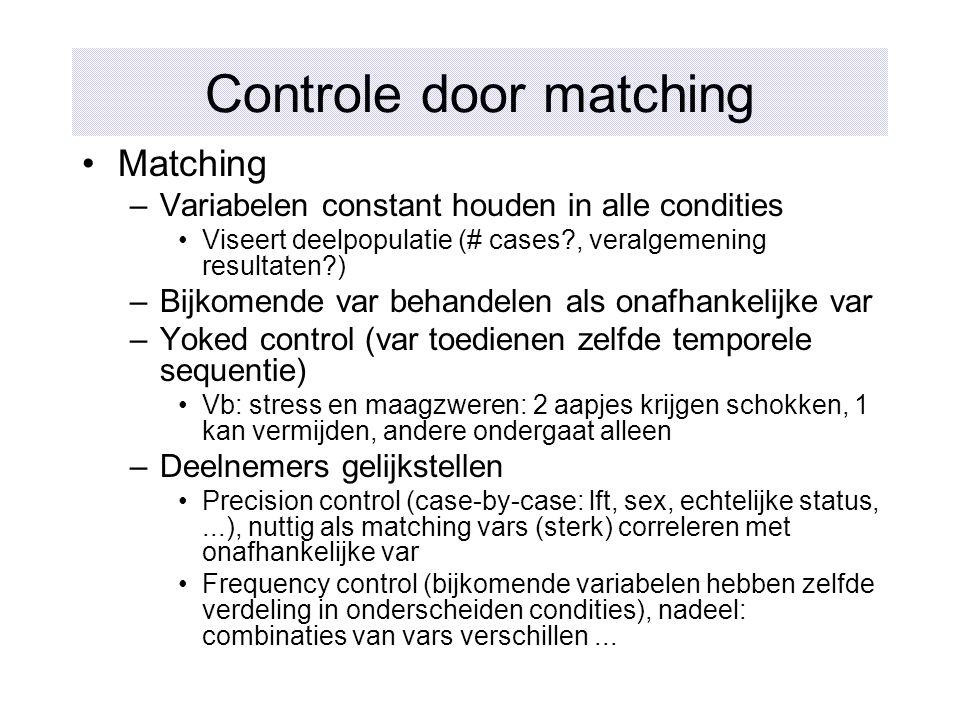Controle door matching