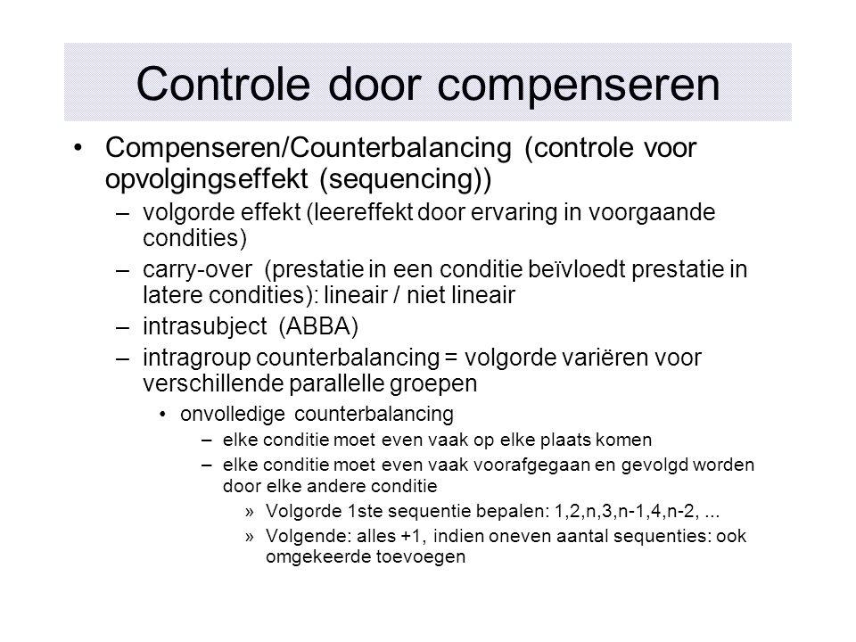 Controle door compenseren