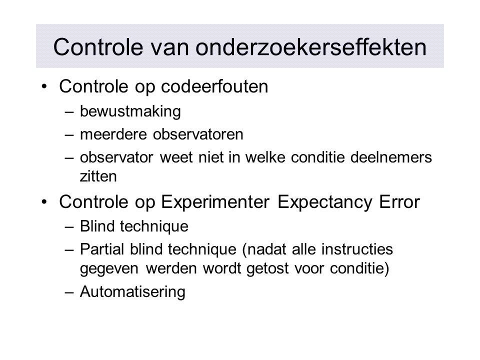 Controle van onderzoekerseffekten