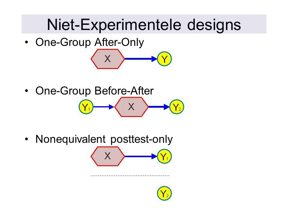 Niet-Experimentele designs