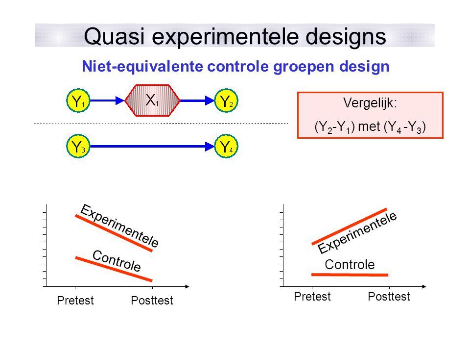 Quasi experimentele designs