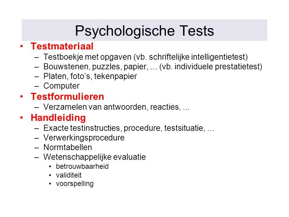 Psychologische Tests Testmateriaal Testformulieren Handleiding