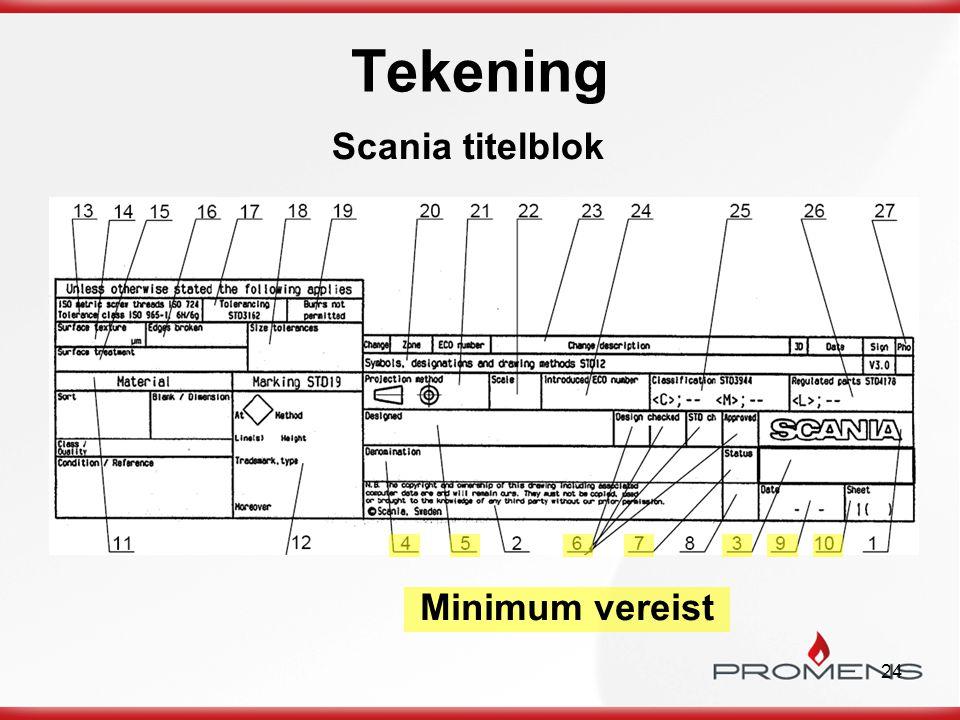 Tekening Scania titelblok Minimum vereist a