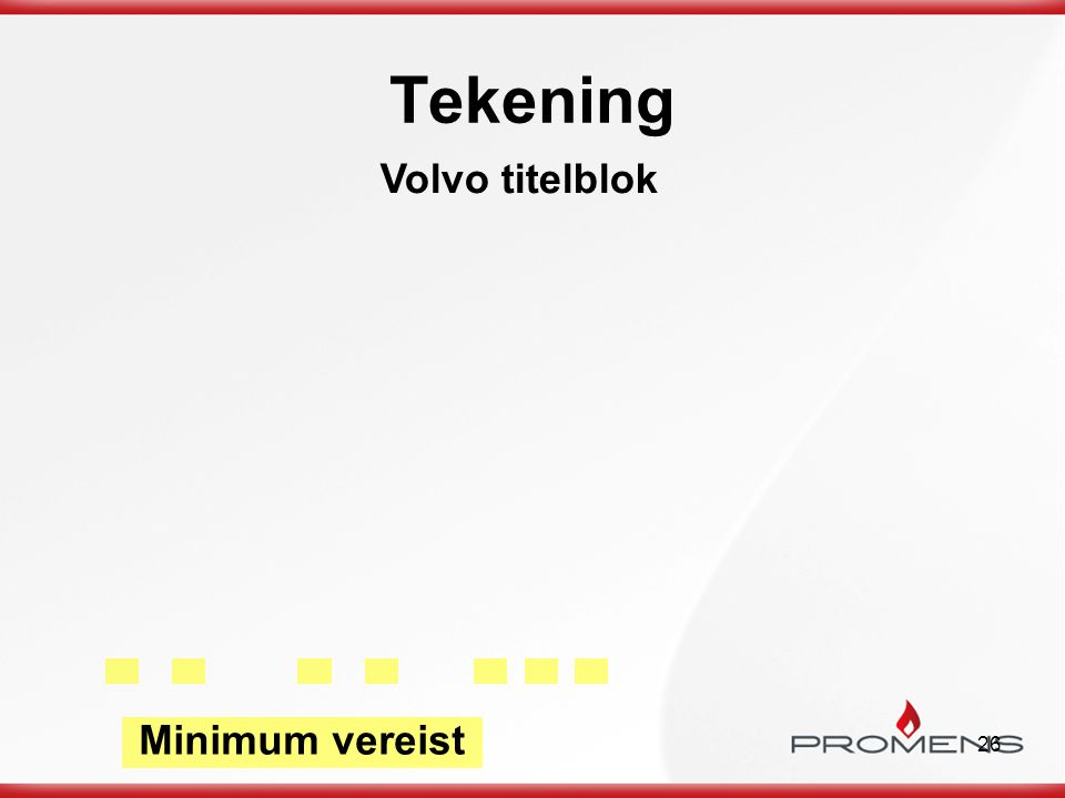 Tekening Volvo titelblok Minimum vereist a