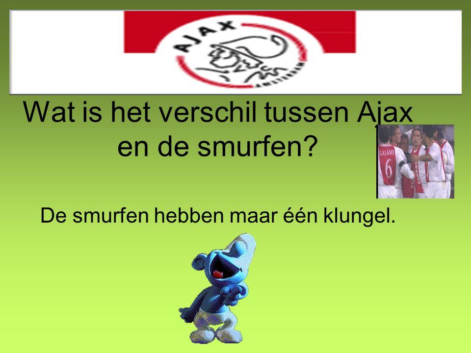 Wat is het verschil tussen Ajax en de smurfen