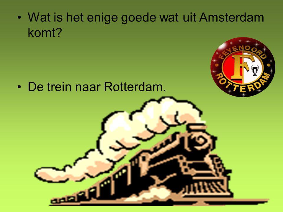 Wat is het enige goede wat uit Amsterdam komt