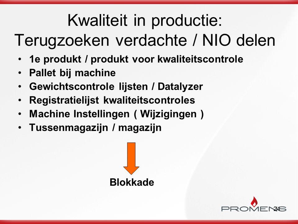 Kwaliteit in productie: Terugzoeken verdachte / NIO delen
