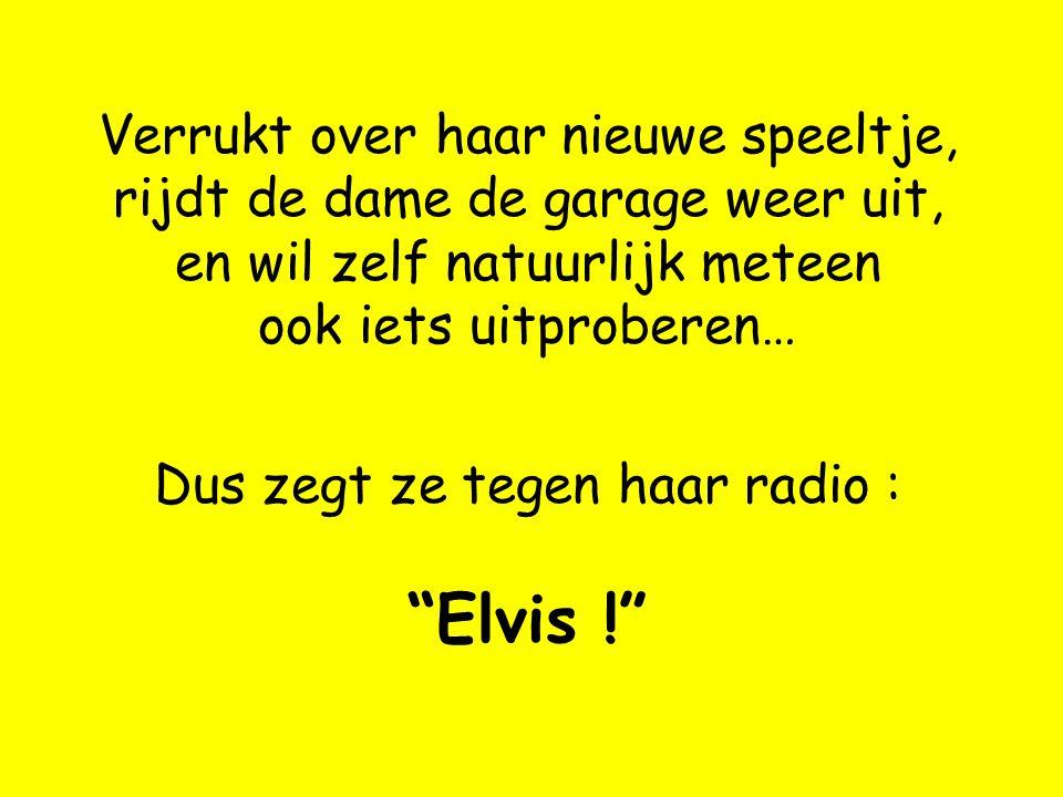 Dus zegt ze tegen haar radio : Elvis !