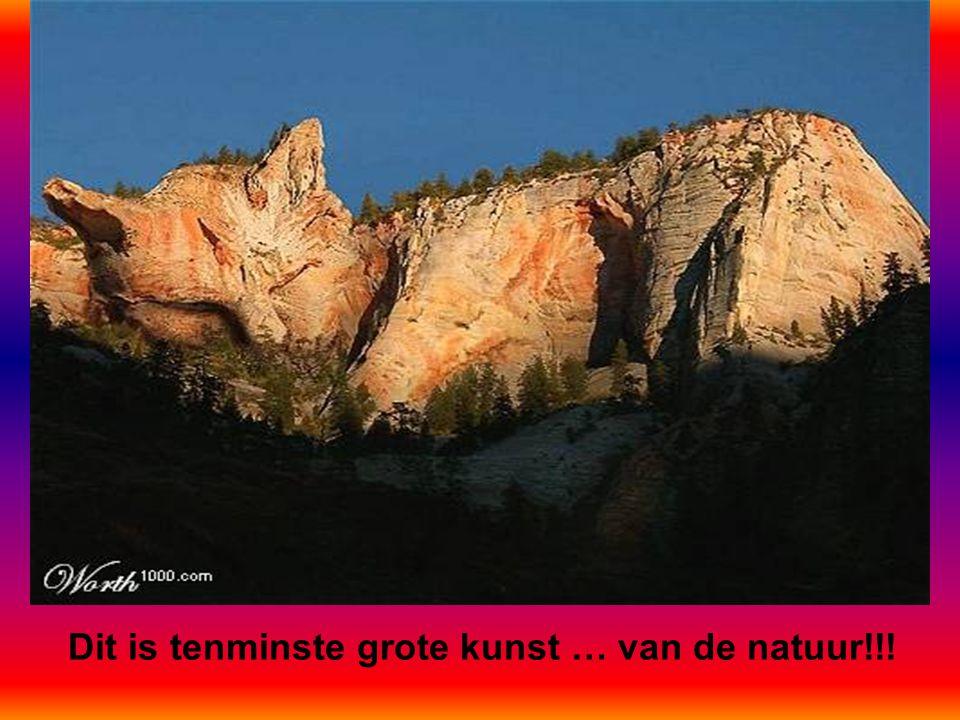 Dit is tenminste grote kunst … van de natuur!!!