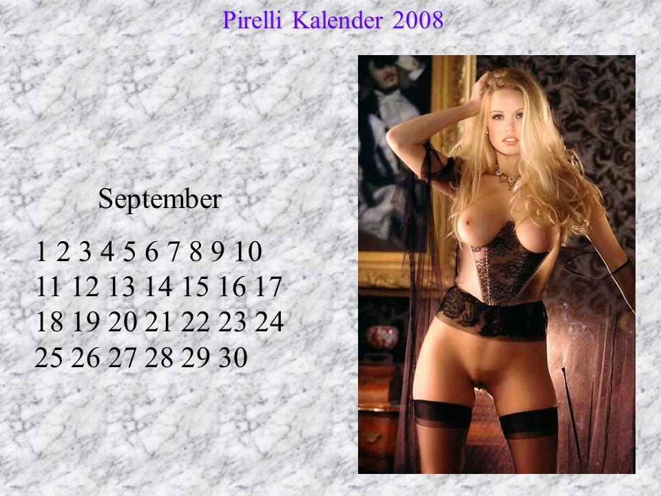 Pirelli Kalender 2008 September.