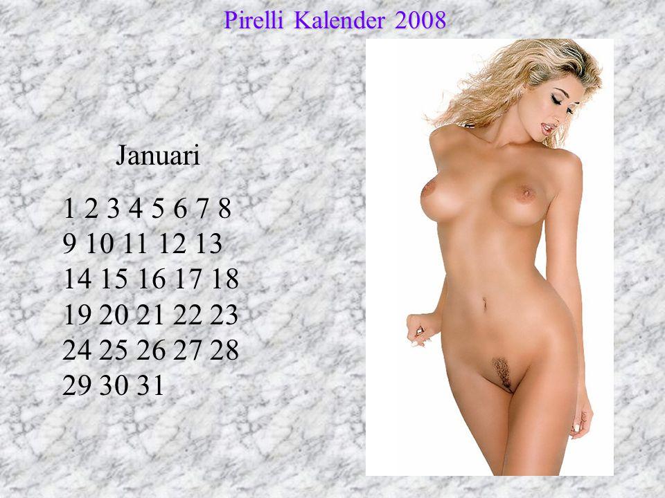 Pirelli Kalender 2008 Januari.