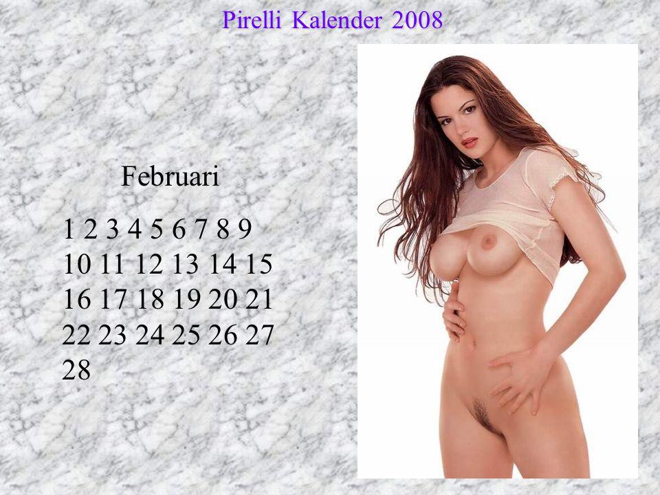 Pirelli Kalender 2008 Februari.