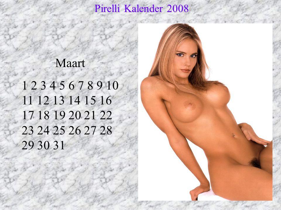 Pirelli Kalender 2008 Maart.