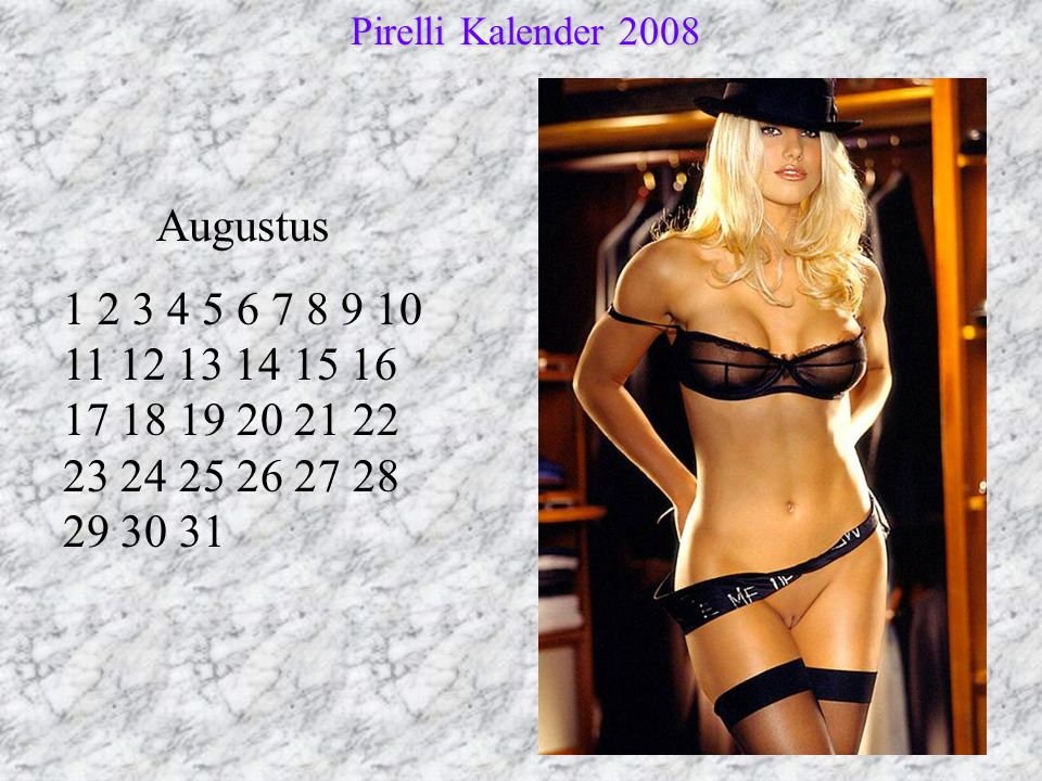 Pirelli Kalender 2008 Augustus.