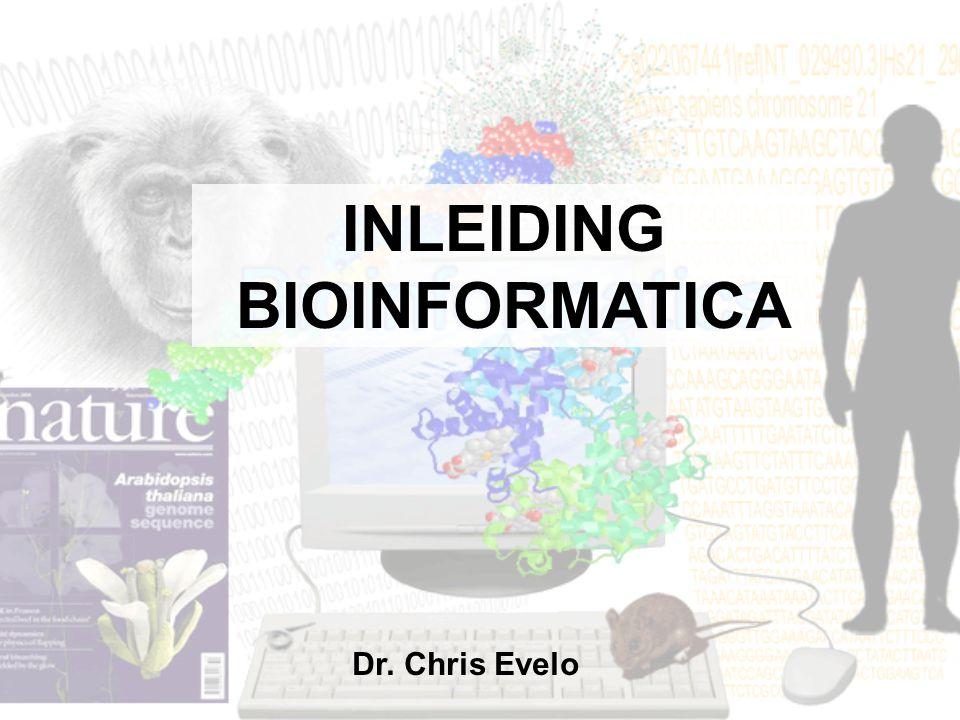 INLEIDING BIOINFORMATICA
