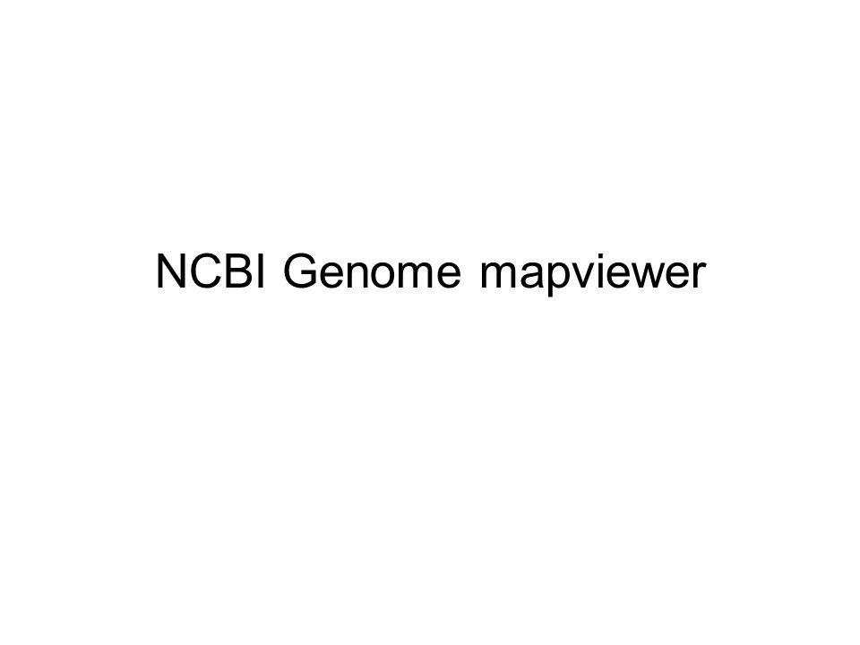 NCBI Genome mapviewer