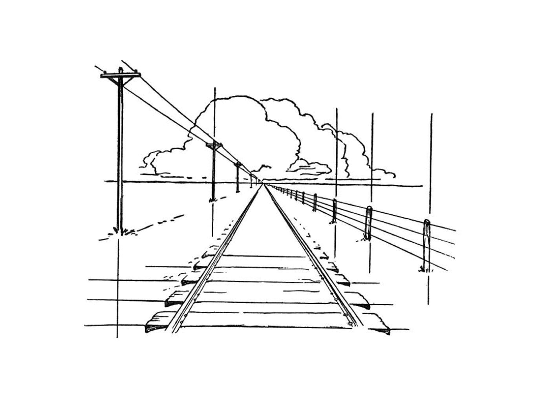 parallen lijnen aan het tafereel blijven verticaal