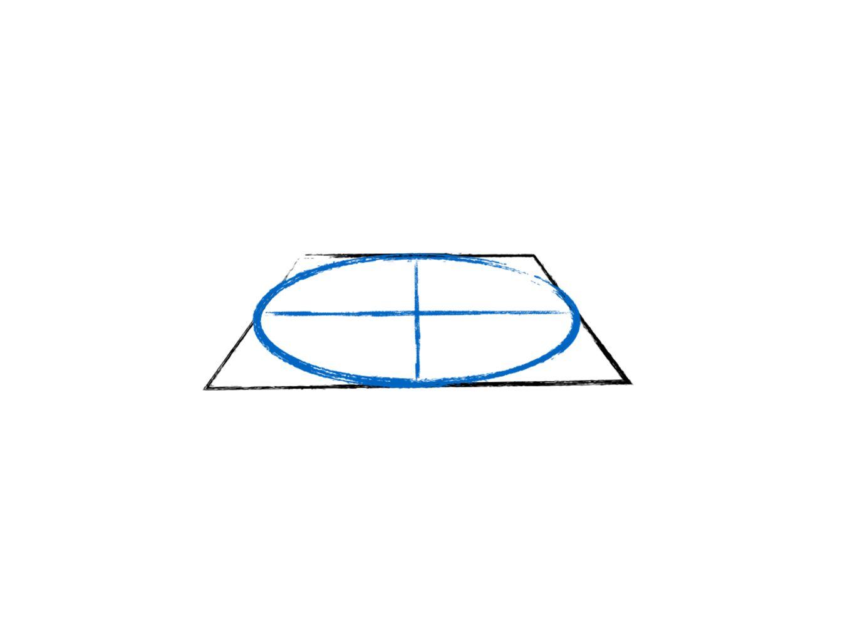 daar teken je een ellips in