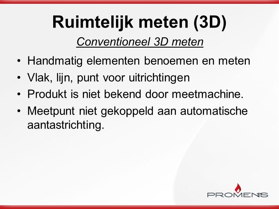 Ruimtelijk meten (3D) Conventioneel 3D meten
