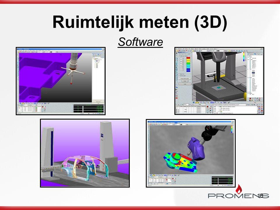 Ruimtelijk meten (3D) Software
