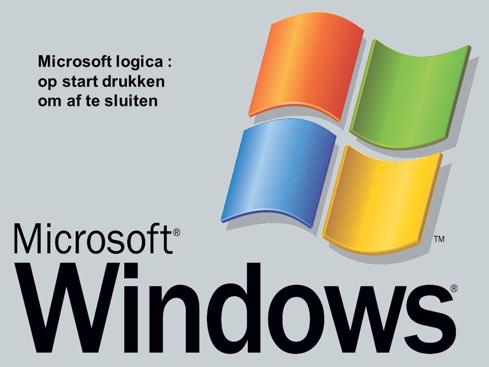 Microsoft logica : op start drukken om af te sluiten