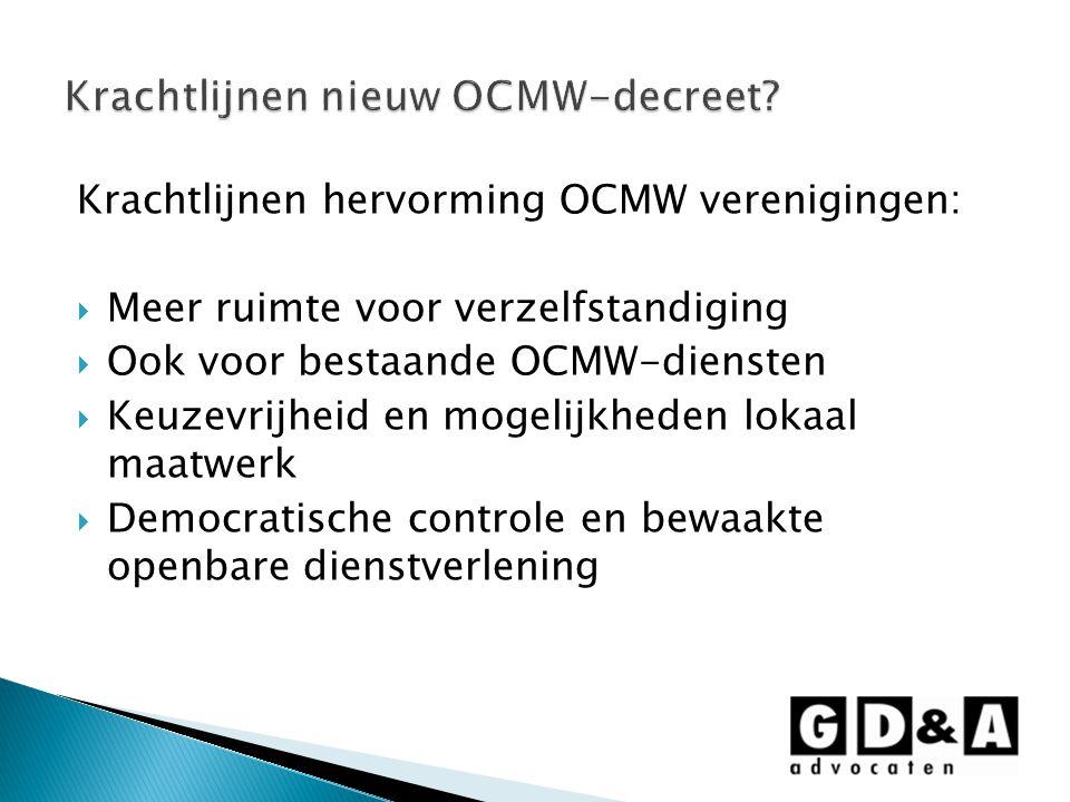 Krachtlijnen nieuw OCMW-decreet