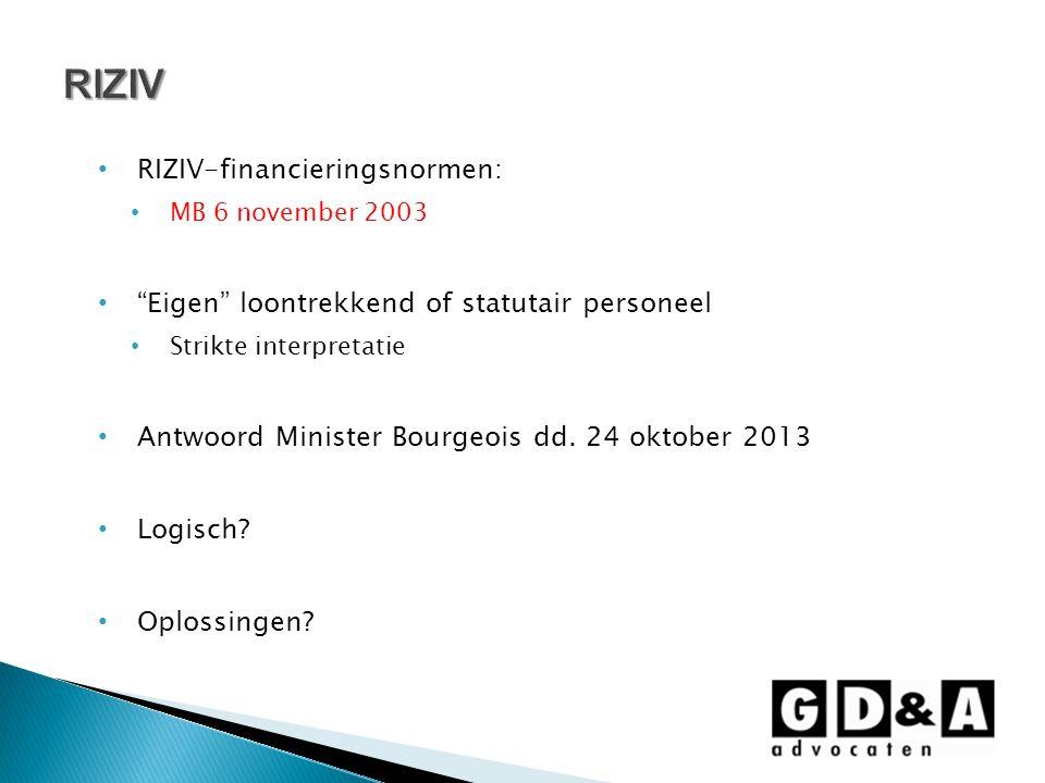 RIZIV RIZIV-financieringsnormen: