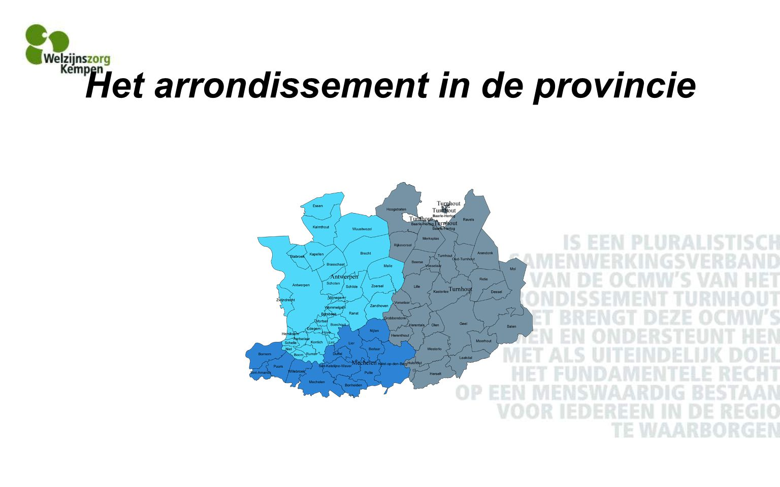 Het arrondissement in de provincie