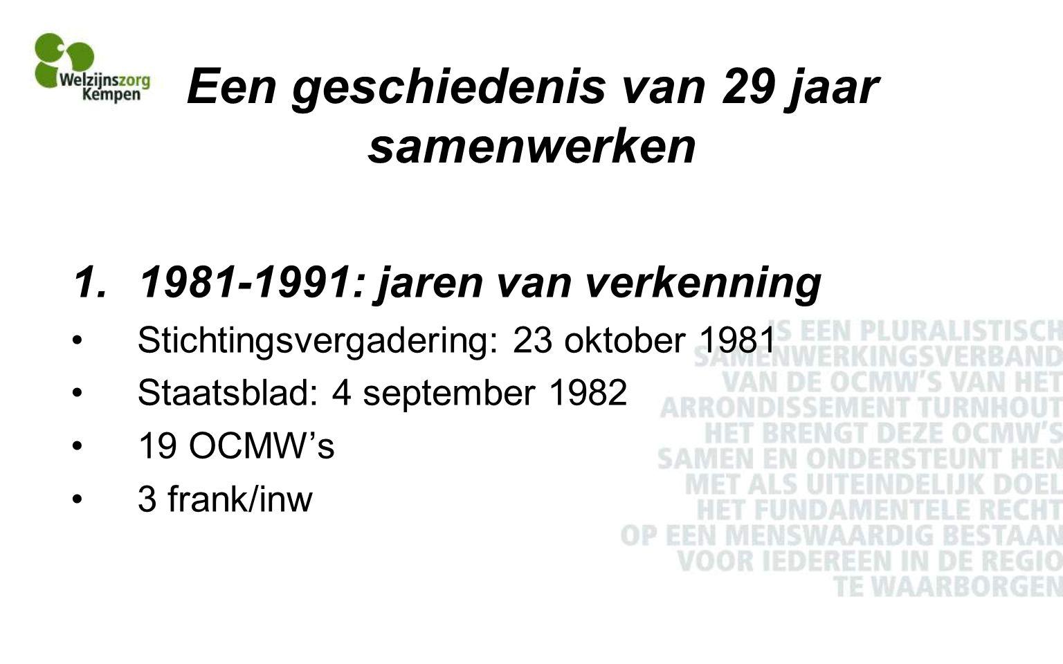 Een geschiedenis van 29 jaar samenwerken